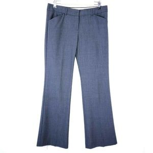 Theory Gray Wool Blend Flat Front Trouser Pants